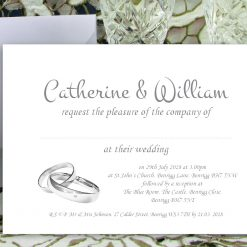 Wedding Invitations - Personalised for Day or Evening - Pack of 30 for £24.99 - Other Pack Sizes Available - Envelopes Included (Copy)