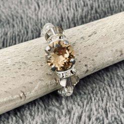 A Swarovski Crystal Ring - Colorado Topaz and Greige