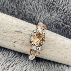 A Swarovski Crystal Ring - Colorado Topaz