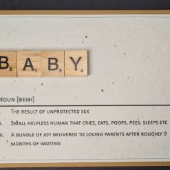New Baby Scrabble Tiles