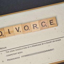 Divorce Scrabble Tiles