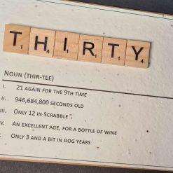 Scrabble Birthday Noun 30