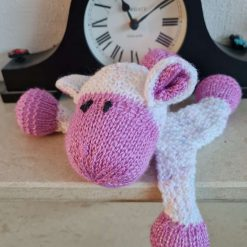 Knitted Maroon Sheep Comforter
