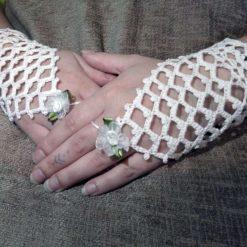 Lace Bridal Gloves, crochet lace-wedding gloves