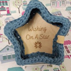 Crocheted Small Star Shaped Basket
