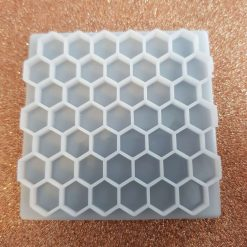 Honeycomb texture plate 6cmx6cm