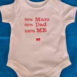 Personalised baby vest 0-3 months
