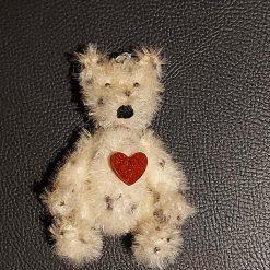 Ashes Memorial Huggy Teddy Bear, Pet Memorial, Human Memorial, 6 Inch Bear