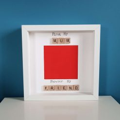 First My Mum Forever My Friend. Handmade Scrabble Art Photo/ Picture Frame. Christmas Gift for Mum. Mother's Day / Birthday Gift.