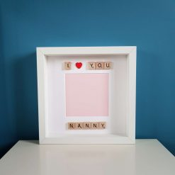 I Love You Nanny Handmade Scrabble Art Photo / Picture Frame. Mother's Day/ Birthday Gift. Gran. Grandma. Nan