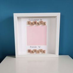Neighbours / Colleagues by Chance, Friends by Choice. Handmade Scrabble Art Photo Frame. Picture Frame. Christmas Gift