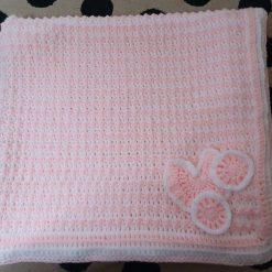 Crocheted Baby Blanket - with pram motif