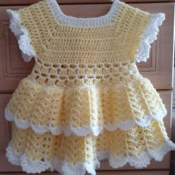 Crocheted dress for 6-9 month old