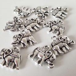 Tibetan Style Antique Silver Elephant Charms