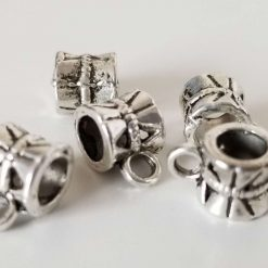 Tibetan Antique Silver Hanger Links