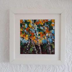 Original Abstract Art-Birchtrees-Acrylics