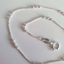 Sterling silver Anklet - Balls and popcorn style sparkles style ankle chain
