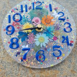 Flower Clock On A Clear Backround