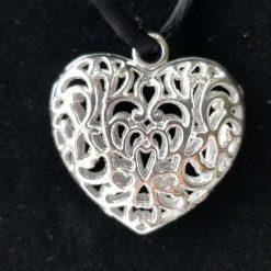 Tibetan Silver Heart Pendants