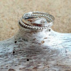 Sterling silver stacking ring set