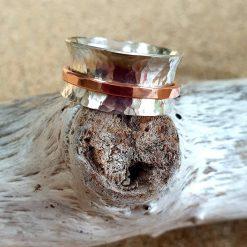 Spinner/Fidget sterling silver ring