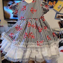 Baby girls frilly dress