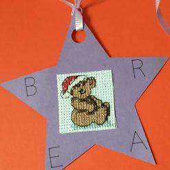 Set of eight colourful kids Christmas gift tag set