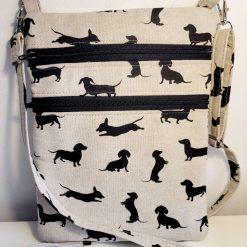 Crossbody bag, hipster bag, zipper bag.
