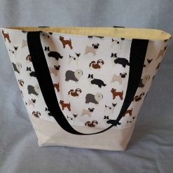 Dogs on White Tote Bag