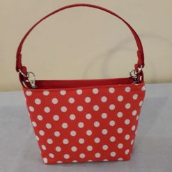 Classic 1940s Handbag - Red with White Polka Dots