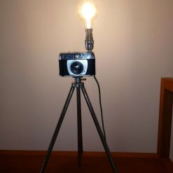 Repurposed Vintage Camera Lamp