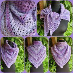 Handmade crocheted shawls/neck wrap/scarf... Northern lights