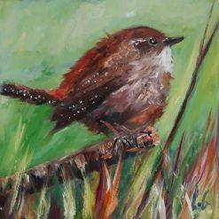 Original Art-Oils-Jenny wren