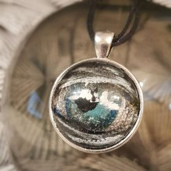 Handpainted pendant dome -Art Acrylic- one of a kind-Necklace-Charm-Keyring-Eye of the storm 70s