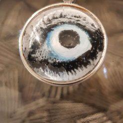 Handpainted pendant dome -Art Acrylic- one of a kind-Necklace-Charm-Keyring-Animal eyes-Horse eye