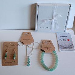 Crystal beaded jewellery set