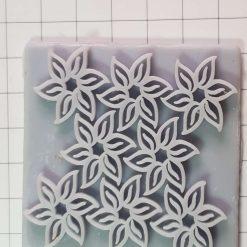 Flowers texture plate 6cmx6cm
