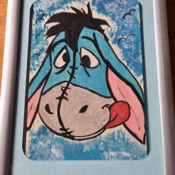 Handmade drawing with colour Eeyore picture