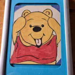 Handmade drawing with colour Winnie the Pooh picture