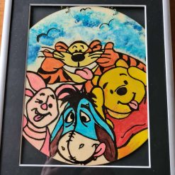 Handmade drawing with colour Disney picture
