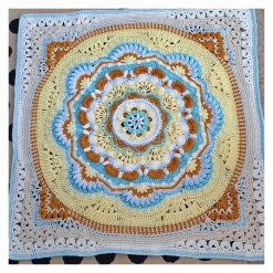 Crocheted Arcadia Baby Blanket - Multi colour