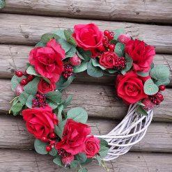 Christmas In Bloom Wreath, Xmas Door Decor, Room Decor, Handmade Christmas Wreath