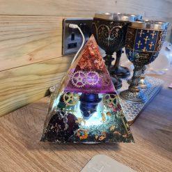 Resin Pyramid Lamp