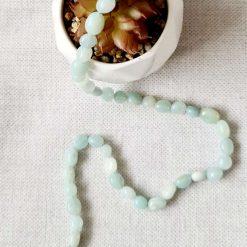 Amazonite Grade A/B nugget bead strand