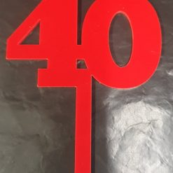 Cake Topper numbers Acrylic