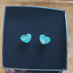 Ashes Memorial Resin Earrings Sterling Silver Hearts