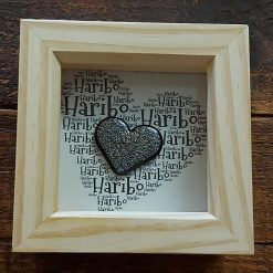 Word Art With Ashes Memorial Heart in Frame
