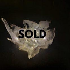 Dally Burst ! White Spotty Resin Sculpture..... SOLD