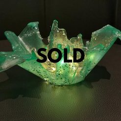 Dragon Burst ! Shades of Green Resin Sculpture..... THIS ONE IS SOLD