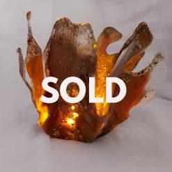 Devon Burst ! Autum Colours Resin Sculpture..... SOLD